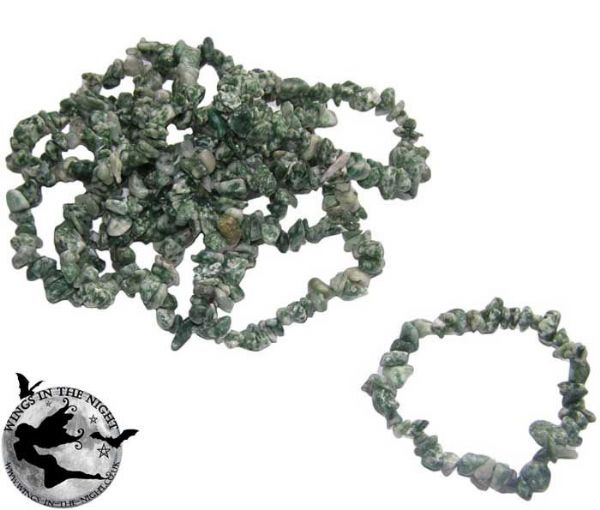 SNAKE DRAGON JADE Crystal Chip Gemstone Bracelet